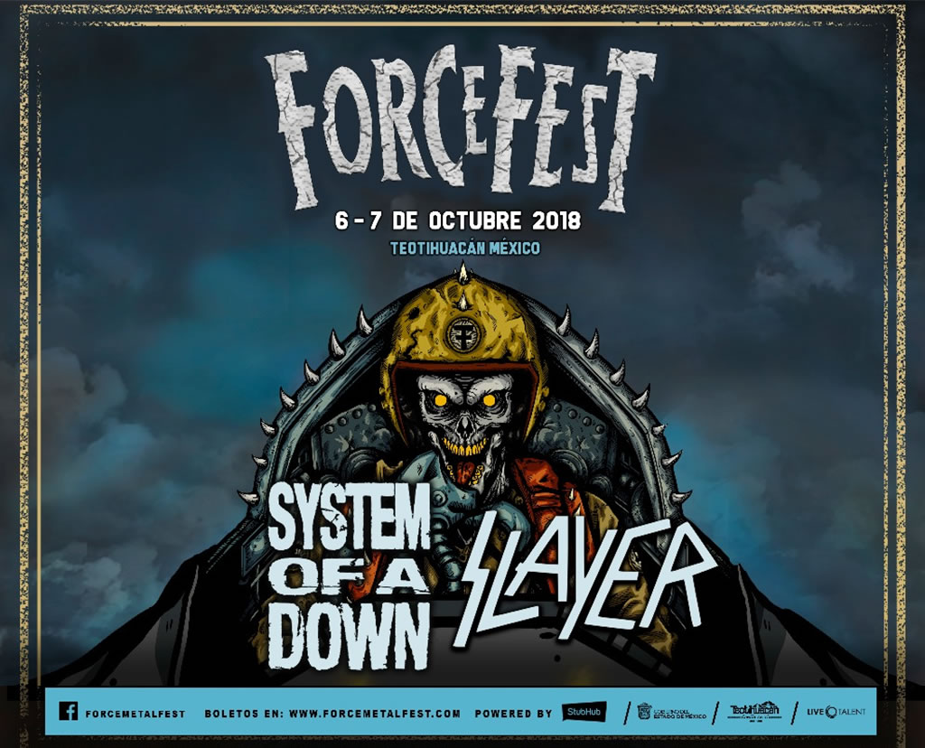 Force Fest 2018 Slayer y System Of A Down